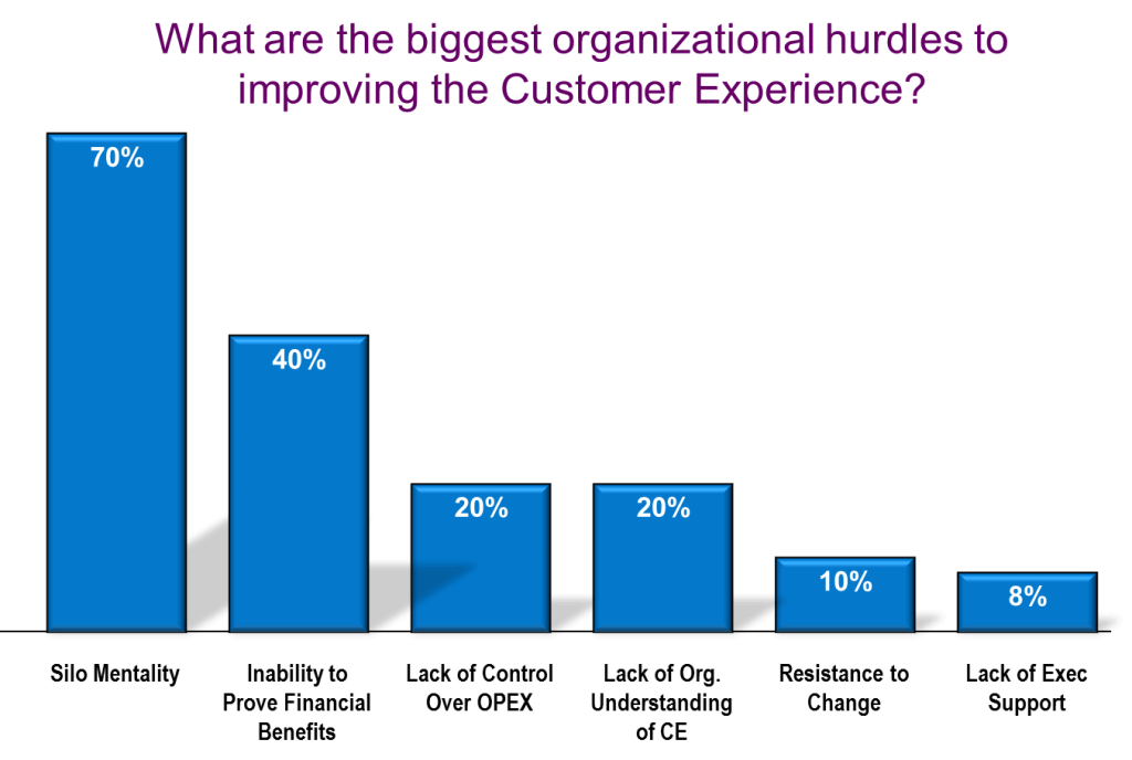 What are the biggest organizational hurdles to improving the customer experience?